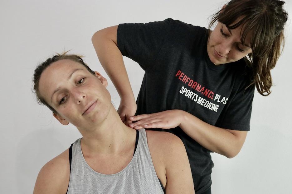 girl with nerd neck soft tissue treatment